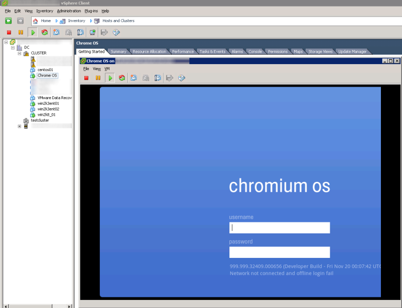 Running Chrome OS on vSphere 4 Update 1